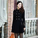 TaiChang™ Womens Slim Double-breasted Skirt Coat