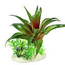 16cm Plantas Simulación verdes para el tanque de pescados de la decoración