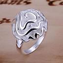 925 Anillo de Rose de la plata 3D de la Suerte Mujeres Muñeca
