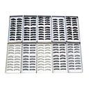 100 piezas de 10 estilos mezclados hechos a mano negro de alargamiento de fibras más gruesas pestañas falsas naturales