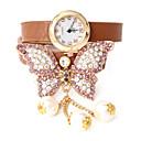aleación atrevería u moda diamonded cuero de la PU de reloj ajustable