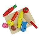 verduras de corte de madera pretenden juguetes para los juguetes educativos de los niños