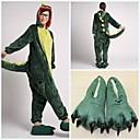 Fierce Green Dinosaur Coral Fleece Adult Kigurumi Pajama Suit (with Slippers)