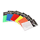 12Pcs Cycling Mountain Bike Spoke Reflective and Warning Stripe(Assorted Color)