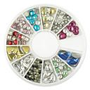 240 pcs Mixed Styles Multi-color Metal Rivet Nail Art Decoration
