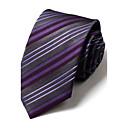 7 cm de ancho grisesamp;corbata de seda de color púrpura