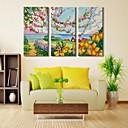 30x galería 50x100cm 60cm 40x80cm impresión de la lona personalizada paisaje de primavera envuelto conjunto del arte de 3