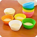 Candy Color Silica Gel Cakes Molds 12pcs(Random Color)