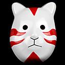 Naruto Konoha Shadow Red Cat PVC Unisex Halloween Party Mask