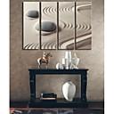decorativo 24x70cm pintura galería 33x100cm 30x90cm desierto impresión de la lona personalizada y piedras envuelto conjunto de arte de 4