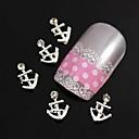 10pcs modelo de barco de aleación Rhinestone DIY para puntas de los dedos accesorios de la joyería la decoración del arte del clavo