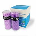 100pcs hisopo cepillo micro para la eliminación de las pestañas de extensión (diameter1.5mm) (color al azar)