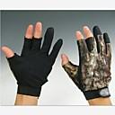 corta 3 dedos camuflaje caza pesca guantes antideslizantes para el tamaño xxl