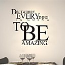 Words Quotes Wall Stickers Modern Personality Amazing PVC Wall Decals