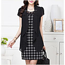 Womens Temperament Two Piece Suit Thin Dress