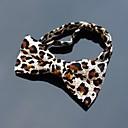 XINCLUBNA Mens Corduroy Dark Leopard Adjustable Bowtie (1pc)