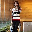 cuello surtido de colores redondas largas mangas de las mujeres yisyi suéter de punto