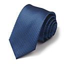 7 cm de ancho negroamp;corbata de seda azul