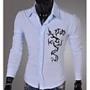 camisa de manga larga de impresión color sólido ocasional de la manera nomo