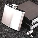 frasco portable de la cadera del acero inoxidable de los hombres (5 oz, con embudo)