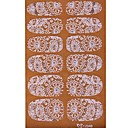 YeManNvYou2x14PCS Imbue 3D Diamond Transparent White Lace Nail Art Ultrathin Stickers TZ048