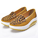 damp;zapatos creepers de las mujeres Y bajas mocasines de tacón con estampado de leopardo zapatos casuales