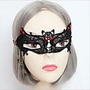 araña media cara gótica hecha a mano de encaje negro máscara del partido de halloween