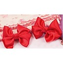 2 x princesa del bebé del niño lindo de la mariposa roja del pelo del arco clips pasadores bandas
