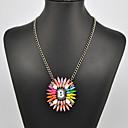 arco iris collar de patrón de flor de las mujeres de la eternidad