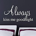 JiuBai™ Kiss Goodnight Quote Home Decoration Wall Sticker Wall Decal, 57cm105cm
