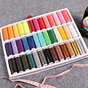 39 Colors Cotton Thread Assortment with Sewing Accessories (Random Package Colors)