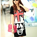 Womens  in The Long Skeleton Round Neck T-shirt