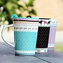 Floral Pastoral Style Ceramic Mug with Lid Random Color,10x8.5x12cm