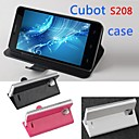 Protective Leather Flip Case Cover for Cubot S208 left to rightSmartphone Phone Cases 3-color