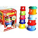 10 Pack Stacking Pile Up Tower Count Cups for Baby Bath Toys