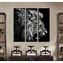 24x70cm feroz león galería 33x100cm 30x90cm impresión lienzo envuelto conjunto personalizado arte de 3