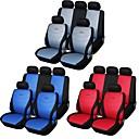 9 PC asiento del coche cubre establecer gris azul rojo universal de ajuste carreras de material de diseño de bordado asiento de poliéster
