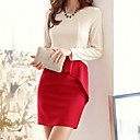 Womens Korea Collar Slim Dress