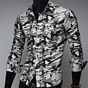 camisa de manga larga de camuflaje ocasional nomo