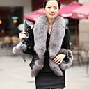 invierno cálido abrigo de piel de imitación L080 gy de las mujeres
