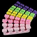 100pcs mezcla separadores de dedos color melocotón de algodón del corazón esponja herramienta del arte del clavo