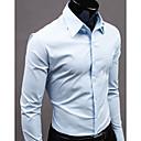 caballero nono camisa de manga larga color puro