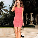 Monta Lace Backless Slim Fit Over Hip Wrapped Chest Dress
