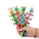 1pcs juguetes campana de mano del bebé alargadas de madera (color al azar)