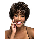 Deep Brown Curly Fashion Womans Short Wig