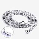 acero inoxidable regalo personalizado cadena grabado ancho 0.7cm collar