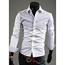 camisa de manga larga de color de contraste conjunta informal nomo