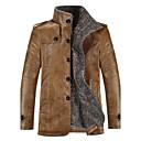 zian cuello alto de la moda de lana del espesamiento de la alta calidad de los hombres espesa la chaqueta de la PU