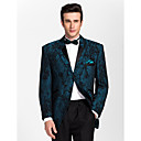 BlackDark Blue Polester Tailorde Fit Two-piece Tuxedo