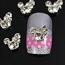 10pcs Rhinestone Micky Mouse 3D DIY Alloy Accessories Nail Art Decoration